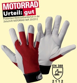 Montagehandschuh Griffy  - rot 10