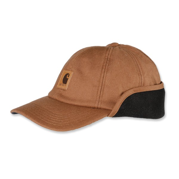 Carhartt Stretch Fitted Ear-Flap Cap M/L, mit Ohrenklappen - carhartt-brown