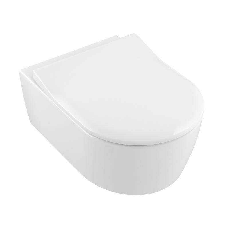 Villeroy & Boch AVENTO Combi-Pack WC-Set 5656RS01 weiss-alpin 370x530mm