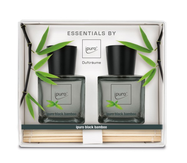 ipuro black bamboo Raumduft, 2er Set - 50ml