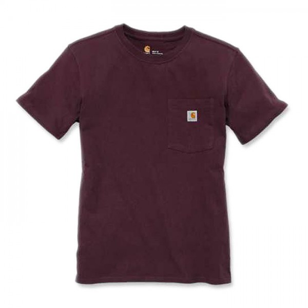 Carhartt Workwear Pocket Short-Sleeve T-Shirt für Damen deep-wine S