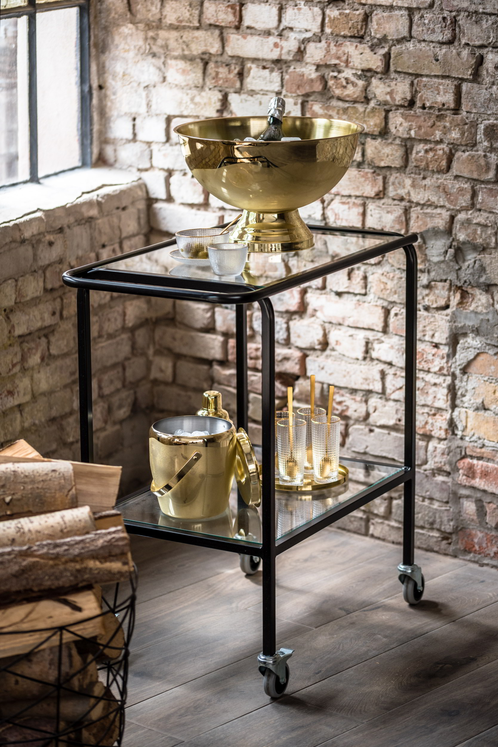 Minibar Bloomingville Bar Accessoires in Gold